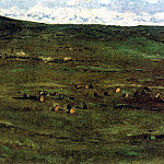 herd of horses in the Baraba steppe. 1890, Vasily Ivanovich Surikov