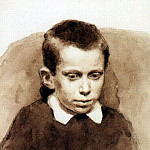 Vasily Ivanovich Surikov - Portrait of Alexander S. Matveev in childhood. 1881