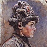 brooding teenager. 1885, Vasily Ivanovich Surikov