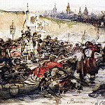 Conquest of Siberia by Yermak. 1891, Vasily Ivanovich Surikov