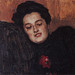 Portrait of AI Emelianova. 1909, Vasily Ivanovich Surikov