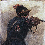 Shooting Cossack. The 1890, Vasily Ivanovich Surikov