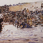 Conquest of Siberia by Yermak 3. Around 1891, Vasily Ivanovich Surikov