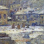 Vasily Ivanovich Surikov - Square in front of the Museum of Fine Arts in Moscow. 1910