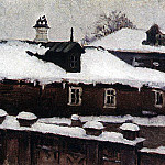 Roofs winter. 1880, Vasily Ivanovich Surikov