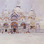 Vasily Ivanovich Surikov - Venice. Cathedral of St. Mark. 1884