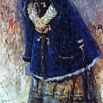 young ladies in the blue coat. 1887, Vasily Ivanovich Surikov