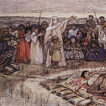 Princess Olga meets the body of Prince Igor. 1915, Vasily Ivanovich Surikov
