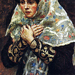 young ladies with folded hands, Vasily Ivanovich Surikov
