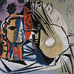 1927 TИte et guitare, Pablo Picasso (1881-1973) Period of creation: 1919-1930