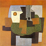 1921 Guitare, compotier et tableau sur une table, Pablo Picasso (1881-1973) Period of creation: 1919-1930