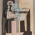 1920 Guitare et compotier sur une table carrВe, Pablo Picasso (1881-1973) Period of creation: 1919-1930