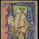 1922 Nature morte Е la guitare sur guВridon, Pablo Picasso (1881-1973) Period of creation: 1919-1930