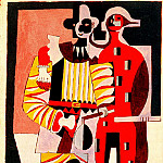 Pablo Picasso (1881-1973) Period of creation: 1919-1930 - 1920 Pierrot et arlequin