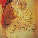 1922 MaternitВ au rideau rouge, Pablo Picasso (1881-1973) Period of creation: 1919-1930