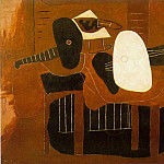 Pablo Picasso (1881-1973) Period of creation: 1919-1930 - 1926 Instruments de musique sur une table