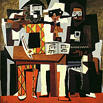 1921 Musiciens aux masques [Trois musiciens], Pablo Picasso (1881-1973) Period of creation: 1919-1930