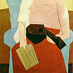 Pablo Picasso (1881-1973) Period of creation: 1919-1930 - 1925 Femme Е la mandoline