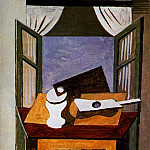 Pablo Picasso (1881-1973) Period of creation: 1919-1930 - 1919 Nature morte sur une table devant une fenИtre ouverte