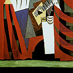 Pablo Picasso (1881-1973) Period of creation: 1919-1930 - 1920 Pulcinella avec une guitare devant un rideau (Massine salutant)