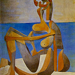 Pablo Picasso (1881-1973) Period of creation: 1919-1930 - 1930 Baigneuse assise au bord de la mer