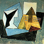 Pablo Picasso (1881-1973) Period of creation: 1919-1930 - 1920 Compotier et guitare sur une table