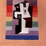1920 Guitare et compotier. JPG, Pablo Picasso (1881-1973) Period of creation: 1919-1930