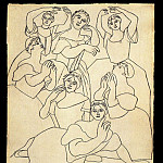 1919 Sept danseuses dont Olga Picasso au premier plan, Pablo Picasso (1881-1973) Period of creation: 1919-1930