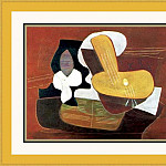 Pablo Picasso (1881-1973) Period of creation: 1919-1930 - 1923 Mandoline et portВe de musique