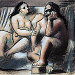 Pablo Picasso (1881-1973) Period of creation: 1919-1930 - 1921 Deux femmes nues assises