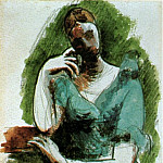 Pablo Picasso (1881-1973) Period of creation: 1919-1930 - 1919 Femme debout accoudВe (Olga)