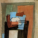 1920 Nature morte Е la guitare1, Pablo Picasso (1881-1973) Period of creation: 1919-1930