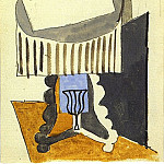 1919 Nature morte sur un guВridon devant une fenИtre ouverte, Pablo Picasso (1881-1973) Period of creation: 1919-1930
