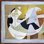 1927 Compotier et guitare, Pablo Picasso (1881-1973) Period of creation: 1919-1930