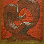 Pablo Picasso (1881-1973) Period of creation: 1919-1930 - 1930 TИte sur fond rouge