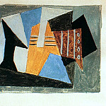 1920 Guitare et compotier sur une table2, Pablo Picasso (1881-1973) Period of creation: 1919-1930