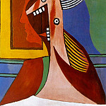 Pablo Picasso (1881-1973) Period of creation: 1919-1930 - 1929 Buste de femme et autoportrait
