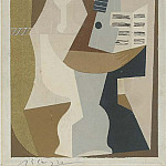 1920 GuВridon avec guitare et partition, Pablo Picasso (1881-1973) Period of creation: 1919-1930