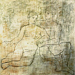 Pablo Picasso (1881-1973) Period of creation: 1919-1930 - 1923 Lentretien. JPG