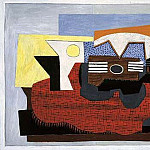 1922 Guitare sur un tapis rouge, Pablo Picasso (1881-1973) Period of creation: 1919-1930