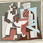 1920 Composition1, Pablo Picasso (1881-1973) Period of creation: 1919-1930