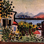 1920 Paysage Е Juan-les-Pins. JPG, Pablo Picasso (1881-1973) Period of creation: 1919-1930