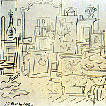 1920 Le studio de lartiste rue La BoЙtie, Pablo Picasso (1881-1973) Period of creation: 1919-1930