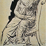 Pablo Picasso (1881-1973) Period of creation: 1919-1930 - 1923 Femme assise1