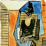 1920 Femme assise au chapeau, Pablo Picasso (1881-1973) Period of creation: 1919-1930