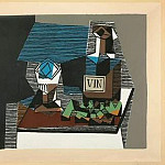 1920 Bouteille et raisins, Pablo Picasso (1881-1973) Period of creation: 1919-1930