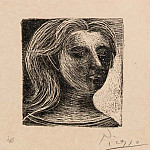 1925 TИte de femme, Pablo Picasso (1881-1973) Period of creation: 1919-1930