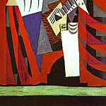 1919 Polichinelle Е la guitare avant le lever de rideau, Pablo Picasso (1881-1973) Period of creation: 1919-1930