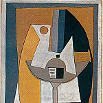 1920 Partition sur un guВridon, Pablo Picasso (1881-1973) Period of creation: 1919-1930