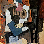 1919 Femme au chapeau Е plume assise dans un fauteuil, Pablo Picasso (1881-1973) Period of creation: 1919-1930